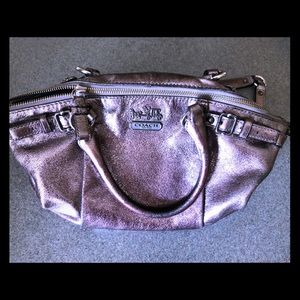 Beautiful Silver Coach Purse, one of a kind!